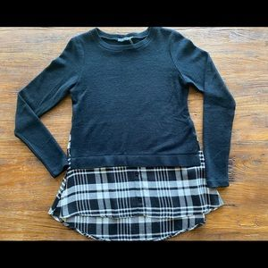 Sweater and Plaid Tunic